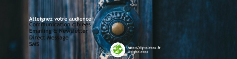 Atteindre l'audience emailing newsletter SMS digitalebox community manager