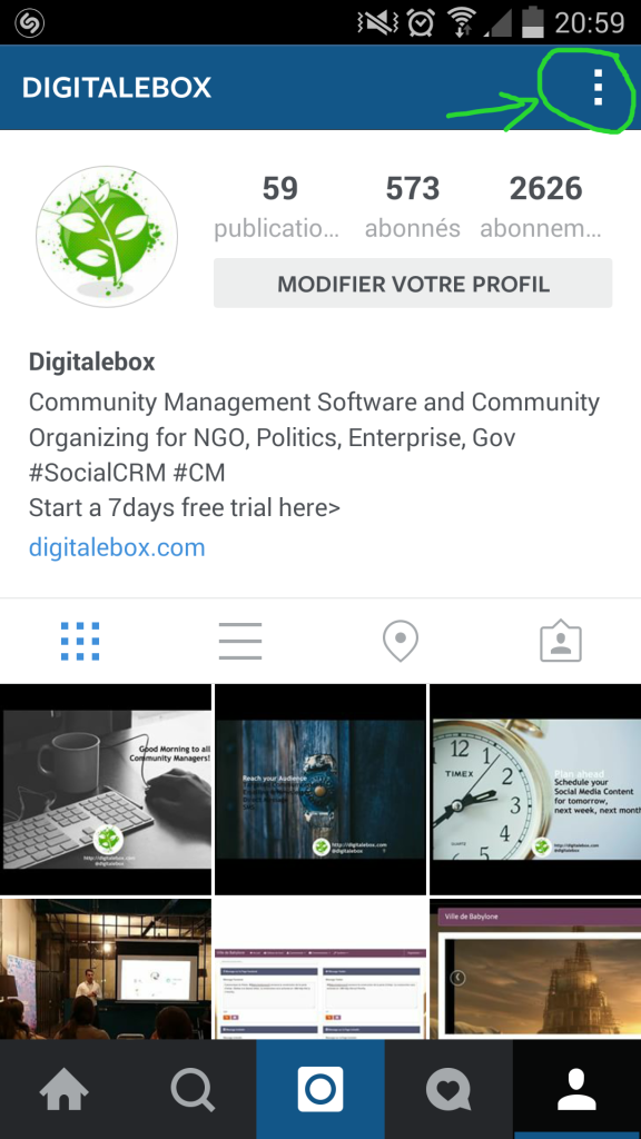 Activer les notifications de publications instagram digitalebox