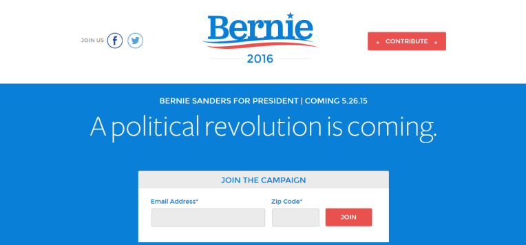 Bernie Sanders campagne digitale presidentielle US 2016 web digitalebox