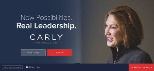 Carly Fiorina candidate republicaine reseaux sociaux digitalebox